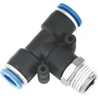Wholesale T Type Pneumatic NPT Threaded Fittings , Pneumatic Push Fit Connectors from china suppliers