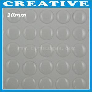China 10mm clear epoxy sticker wholesale