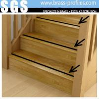China Brass Stair Nosing Brass Anti Slip Extruding Stair Edge Protection on sale