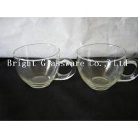 China glass ice cream cup with handle, Ice Cream Bowls, glass tea set in hotel wholesale
