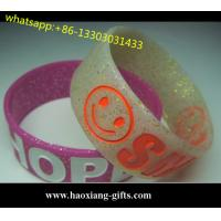 China Custom Logo Promotion Gift Adjustable Silicone Wristband/Silicone Bracelet wholesale