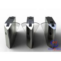 China Full Automatic Flap Barrier Gate With Reader Card / Fingerprint Recognition For Gym / Club  Entrance wholesale
