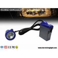 China 10000lux brightness LED Mining Light emergency miner lamp with 3.7V 6.6Ah battery wholesale