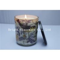 China nice candle container with soy wax,custom candle holder with lid wholesale