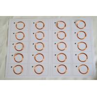 Buy cheap Ultralight 0.3mm 13.56Mhz Smart RFID Card Inlay / NFC inlay customized from wholesalers