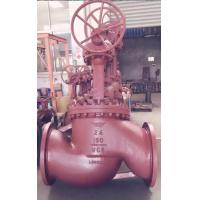 China 2 Inch - 48 Inch Pressure Seal Globe Valve BS 5352 With Gear Bare Shaft wholesale