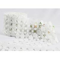 China Scalloped Cotton Crochet Lace Trim / Cotton Lace Edging For Winter Dress wholesale