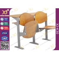 China Melamine Desktop Foldable College Classroom Furniture , Lecture Theatre Chairs wholesale