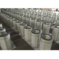 China Pleated Gas Turbine Air Intake Filter For Dust Collector Cartridge Long Fiber Material on sale