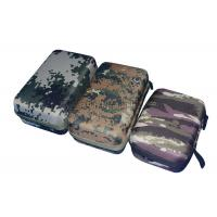 China Custom Empty Power Bank Carry Case Durable With EVA Plate , Camouflage Color wholesale