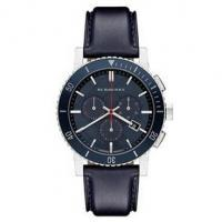 China Burberry Swiss 'The City' Chronograph Navy Blue Leather Strap Men's Watch BU9383 wholesale