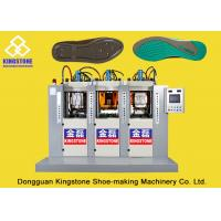 Buy cheap Static Three Stations Shoe Sole Moulding Machine, TPU TPR TR PVC Sole Making Machine from wholesalers