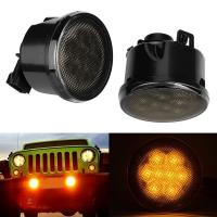 China Firebug Amber LED Turn Signal Light Smoke Lens Front Grill for Jeep Wrangler JK wholesale