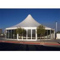 China 15m Diameter Glass Wall Marquee Tents Multi - Sided Meeting WIth Table Chairs wholesale