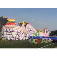 China Outdoor Gaint Inflatable Slides Animal Design Huge Dry Slide With Round Pool For Park Rental wholesale