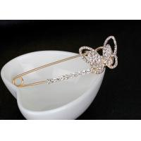China Alloy Material Butterfly Breastpin / Scarf Buckle , Trendy Metal Craft Ornaments on sale