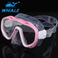 China Premium Pink Silicone Diving Mask , No Fog Dive Mask UV Protection No Leaking wholesale