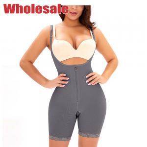 China Zipper Breasted Ladies Body Shaper Shape Control Bodysuit Adjustable Shoulder Strap wholesale