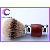 Quality Bruma rosewood silver tipped badger hair shaving brush With Custom Logo for sale