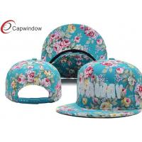 China Floral / Camouflage Cotton Custom Strapback Hats Ladies Baseball Caps wholesale
