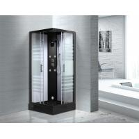 Matt Black Profiles Sliding Glass Door Shower Enclosure Kits For Star-Rated Hotels
