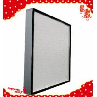 China 610x610x69mm High efficiency particulate minipleated Hepa air filters H13 wholesale