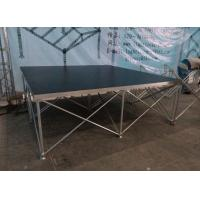 China Aluminum Folding Movable Stage Platform with 18mm thickness Anti-slip Plywood wholesale