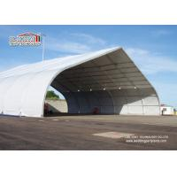 China Outdoor Aluminum Curved Roof TFS Tent For Military And Hangar , Aluminum Structure Tent wholesale