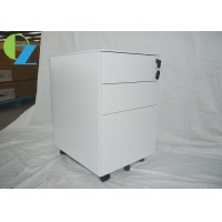 Quality Non KD Three Drawer Slim Mobile Pedestal Cabinet for sale