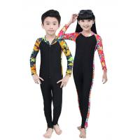 China kids rash guardkids swim suit wetsuits front zipper UPF50+ Children full body swimwear Diving Suit Swimming Surfing Snor wholesale
