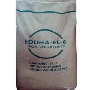 China Water Soluble Organic Iron Chelated Fertilizer EDDHA Fe 6% Ortho-Ortho 4.8 wholesale