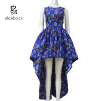 Quality Sleeve Less Fashion Female Beautiful African Print Dresses Eco - Friendly All for sale