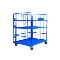 China Corrosion Protection Metal Cage Trolley 1000kg Capacity For Milk Transport on sale