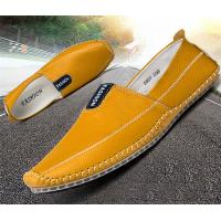 China Rubber Back Counter Mens Soft Leather Loafers , Durable Mens Penny Loafer Shoes wholesale