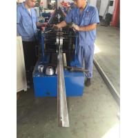 China Rolling Speed 12 - 15m/min Fly Saw Cutting Metal Shutter Door Roll Forming Machine PLC Control System wholesale