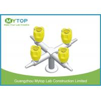 China Four Way Brass Laboratory Gas Taps / Chemical Gas Cock Valve Series Fittings wholesale