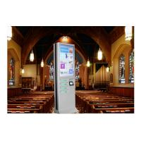 China Network Multi Cell Phone Charging Station Kiosk With Big Advertising Screen wholesale