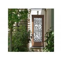 Buy cheap Distinctive Customization Wrought Iron Glass Door Inserts Excellent Climate from wholesalers