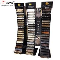 China Black Wood Metal Cambira Stone Showroom Display Stand Freestanding For Tiles wholesale