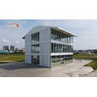 China Three Floor Triple Decker Three Story Tent Clear Span Decoration with White PVC Fabric Roof wholesale