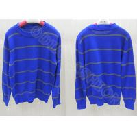 China 2014 Blue Stripes Boys Holiday Sweater  , Kids Crew Neck Sweaters in Long Sleeve wholesale