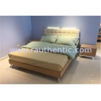 China Steady wood bed frame with Metal supporting legs with Comfortable upholstered headboard wholesale