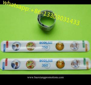 China LED reflective wristband led reflective slap bands,Slap wristband led bracelet running wholesale