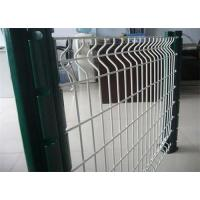 China Residence 3D Steel Triangle Fence Panel Galvanized Wire Square / Peach Post wholesale
