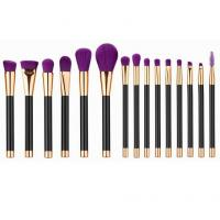 China 15 in 1 make up tool brush kit purple  Beauty makeup tools wholesale