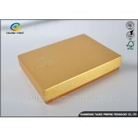 Light Weight Chocolate Gift Boxes , Cardboard Boxes With Lids Golden Covering