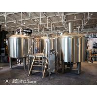 10BBL Brewhouse Large Scale Brewing Equipment Semi Auto Control Panel for sale