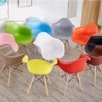 China Custom Kids Plastic Chairs , Coloured Armchair Style Dining Chairs on sale