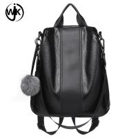 China Chinese factory Brown and Black sling shoulder backpack l outdoor backpack Elegant leather backpack for women wholesale