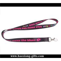 China high quality 20*900mm sublimation printed logo lanyard with metal buckle for sale wholesale